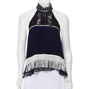 Jonathan Simkhai mock neck blouse. EUC